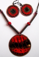 "Jewelry Set ""Fire"""