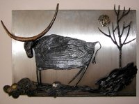"Wrought Iron Painting ""Buffalo"""