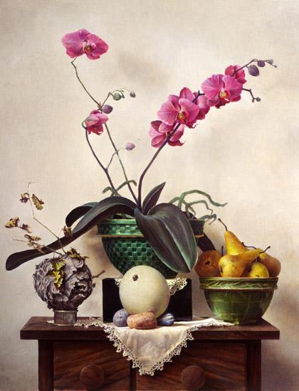 Копія картини натюрморт з орхідеєю