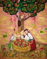 """Вышитая картина """"Яблоневый Спас"""""""