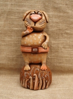 "Figurine ""Cat-military"""