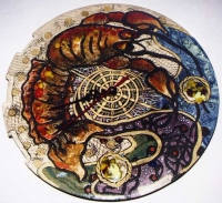 "Ceramic Clock ""Crayfish"""
