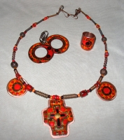 "Jewelry Set ""With Cross"""