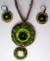 """Jewelry Set """"Frog Eye"""""""