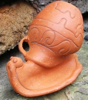 "Terracotta Ceramic Snail ""Ancient Purple"""