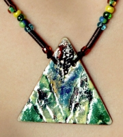 "Pendant ""Green Triangle"""