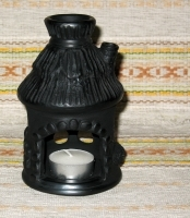 "Openwork Ceramic Candlestick ""House"""