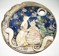 "Decorative Plate ""He-she"""