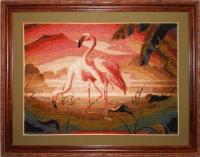 "Картина крестиком ""Фламинго"""