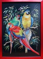 """Картина крестиком """"Попугаи"""""""