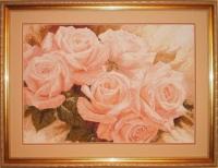 """Картина хрестиком """"Рожеві троянди"""""""
