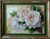 """Картина крестиком """"Белые розы"""""""