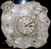 """Часы настенные глиняные """"Галактика"""""""