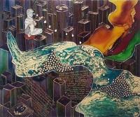 """Картина на стекле """"Плетение времен"""""""