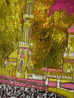 """Картина на склі  """"Мечеть"""""""