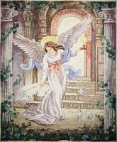 """Картина крестиком """"Ангел тысячелетия"""""""