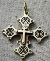 Крест латунний