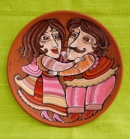 "Decorative Plate ""Dancers"""