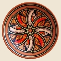 "Decorative Plate ""Red Ruta"""