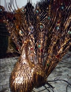 Скульптура садовая кованая