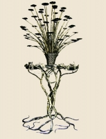 """Wrought-iron Candlestick """"Fire Tree"""""""