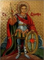 """Religious Icons on the Glass """"St. Demetrius"""""""