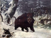 """Copy of Painting """"Robust Wild Boar"""""""