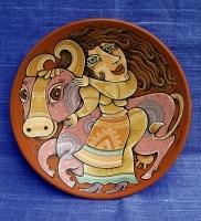 """Decorative Plate """"Quiet Evening"""""""
