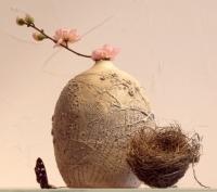 "Engobe Vase ""Milky Way"""