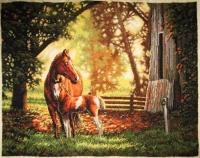 """Картина крестиком """"Лошадь и жеребенок"""""""