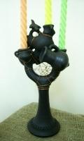"""Gavaretska Ceramic Candlestick """"Jugs"""""""