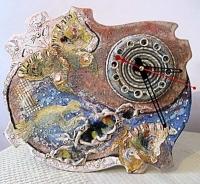 "Clock ""Dawn with Hummingbird"""