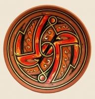 "Decorative Plate ""Chaos"""